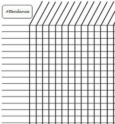 simple attendance sheet google search uu re pinterest attendance attendance chart and. Black Bedroom Furniture Sets. Home Design Ideas
