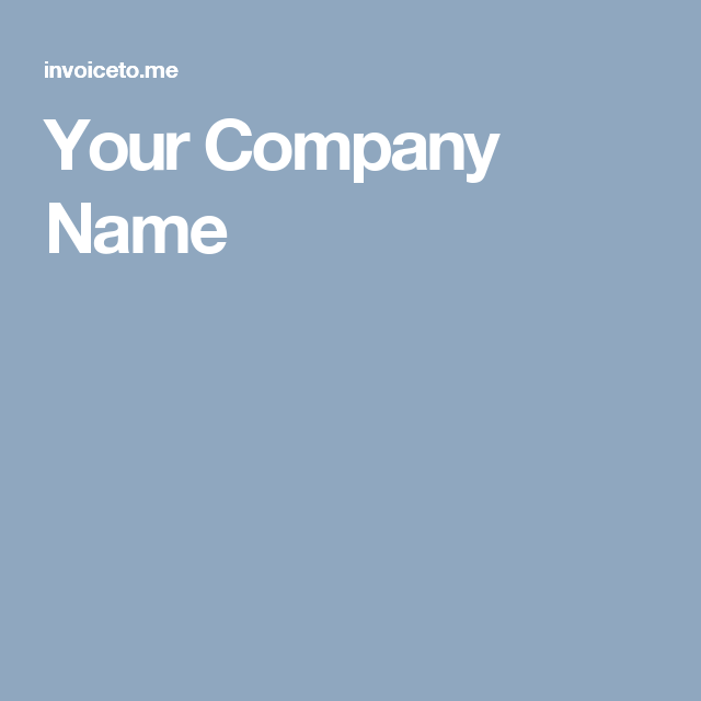 Online Invoice Creator Free Your Company Name  Tools  Invoice Generator  Pinterest .