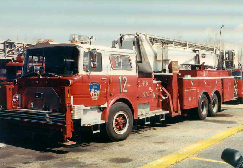 f d n y ladder 12 retired mack cf tower ladder firefighting