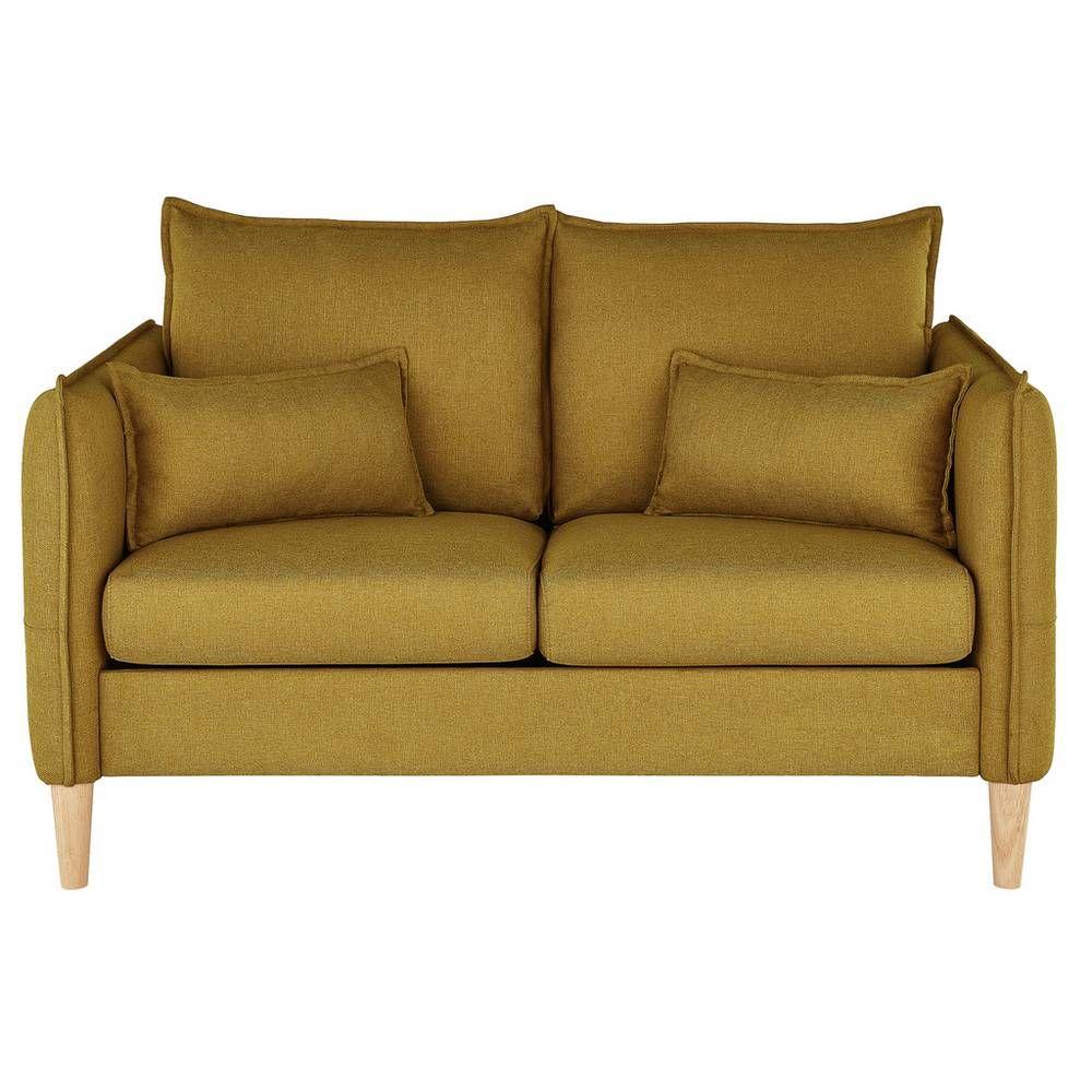 Buy Argos Home Etta 2 Seater Fabric Sofa In A Box Mustard Sofas Argos In 2020 Fabric Sofa Argos Home Mustard Sofa
