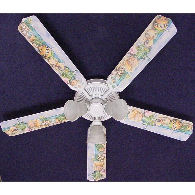 Have to have it ceiling fan designers sea shells beach sand ceiling fan aloadofball Image collections