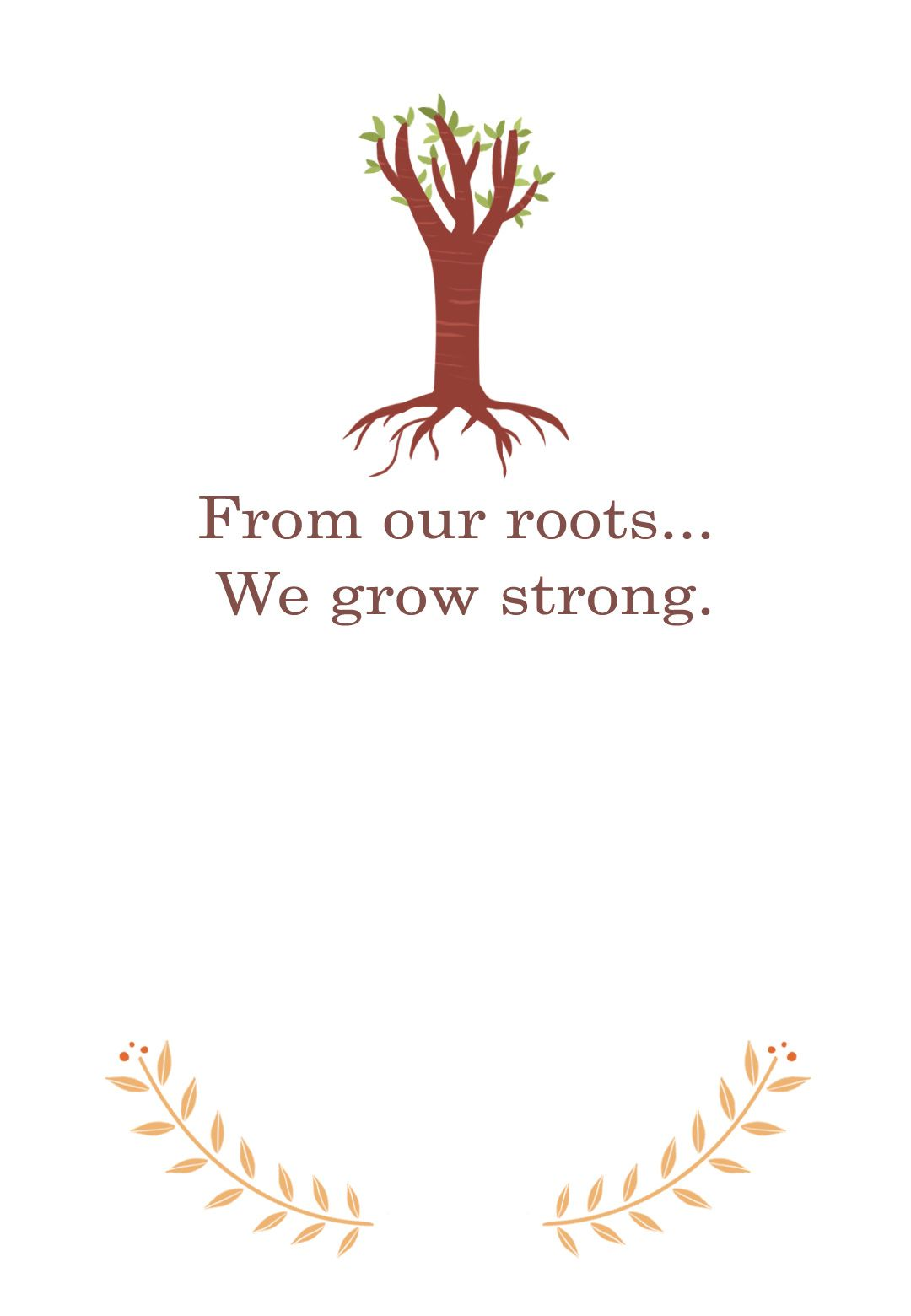 Our Roots Free Printable Family Reunion Invitation