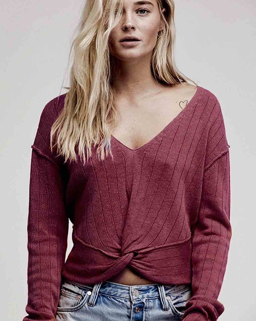 Free People Got Me Twisted Sweater Wine With Images Women Clothing Boutique Womens Wholesale Clothing Fashion Clothes Women