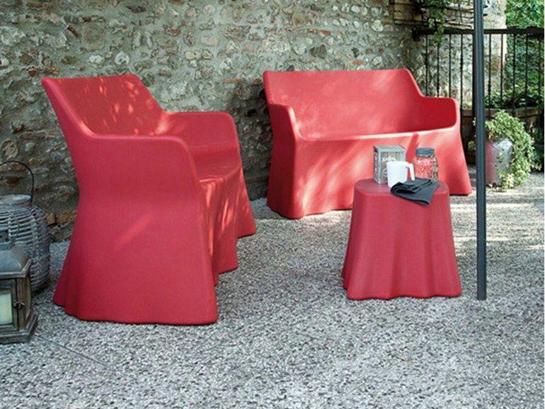 Sofá De Jardín 3 Plazas De Plástico PHANTOM 2 By DOMITALIA Diseño Andrea  Radice