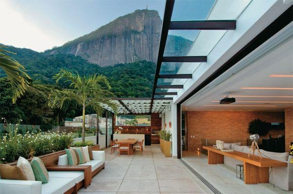 Wohnideen Terasse zimmerpflanzen auf der terrasse grüne einrichtungsideen mit pfiff