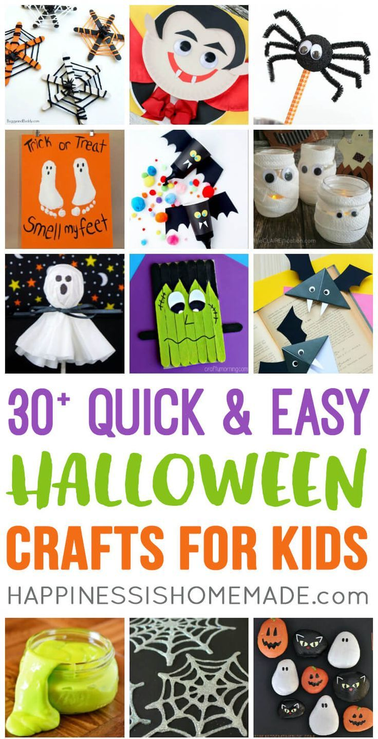 Photo of Quick & Easy Halloween Crafts for Kids