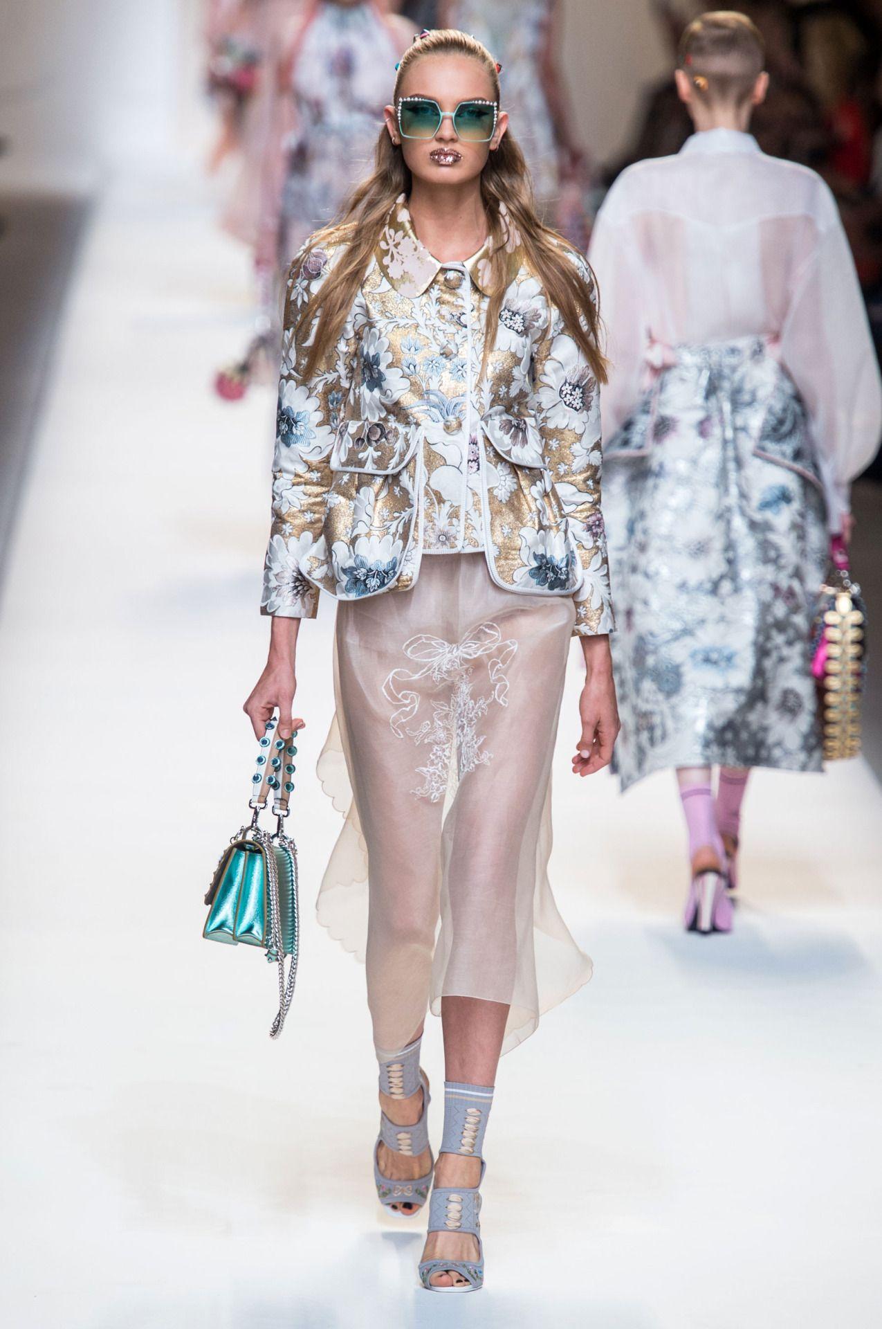 Fendi   Milan Fashion Week   Spring 2017 • Model: Romee Strijd