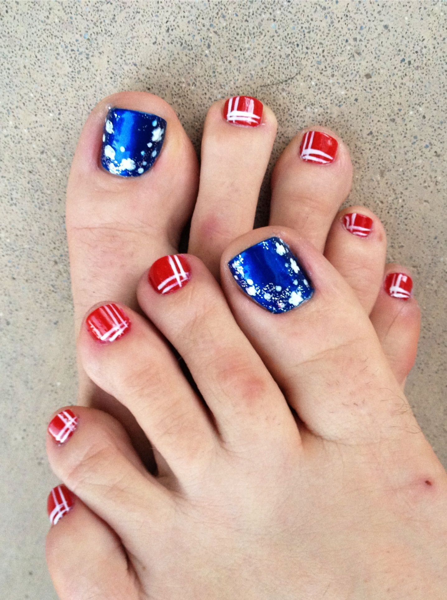 4th of July Toes | My Style | Pinterest | Pedicures, Pedicure ideas ...