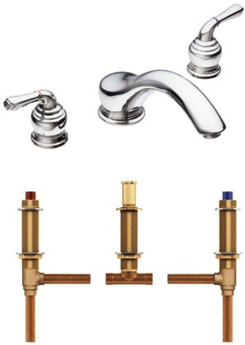 Moen T951 4792 Monticello Two Handle Low Arc Roman Tub Faucet with