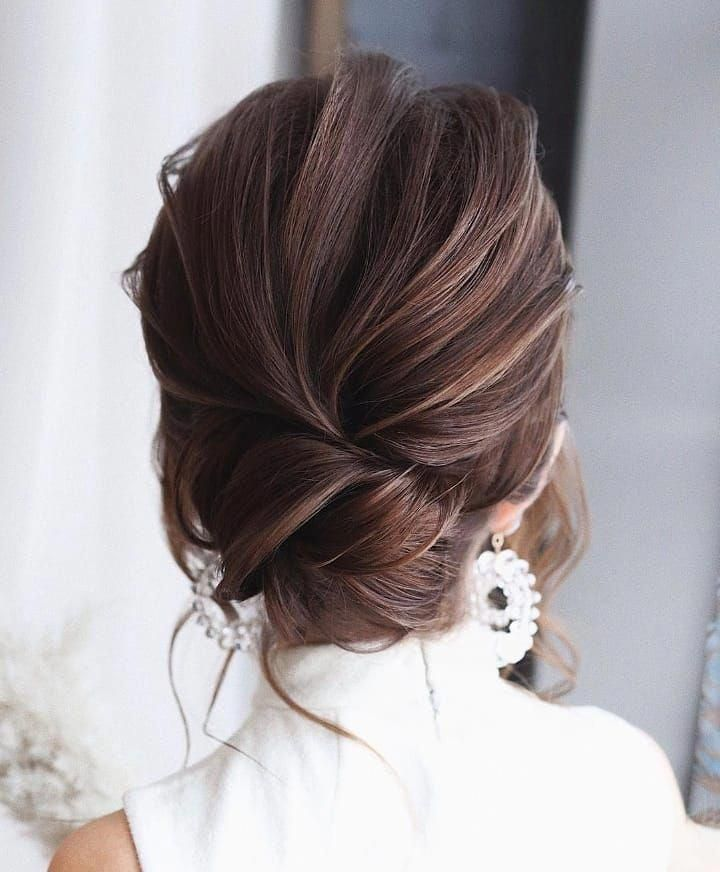 20 Inspiration Low Bun Hairstyles For Wedding 2019 2020: 21 Best Long Layered Bob (Layered Lob) Hairstyles In 2019