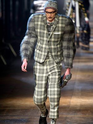 9ba35301cc57 Monstrous fashion  Thom Browne at Paris Fashion Week Autumn Winter 2012 13-  reminiscent of the zoot suit (oversized baggy look)