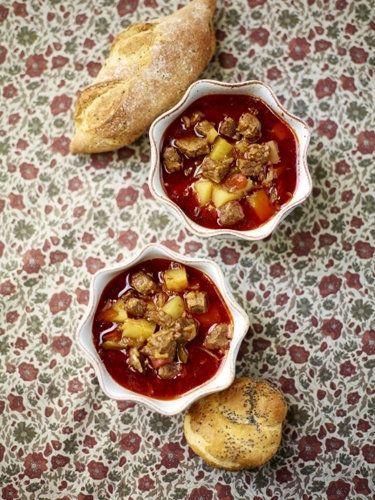 Суп с говядиной аля гуляш Гуляш любят все и готовят все ...