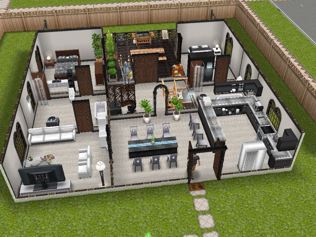 Modern design inspired sims freeplay house idea game for Design casa on line