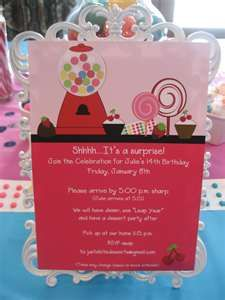 #YoYoBirthday Candy Theme Party Invite
