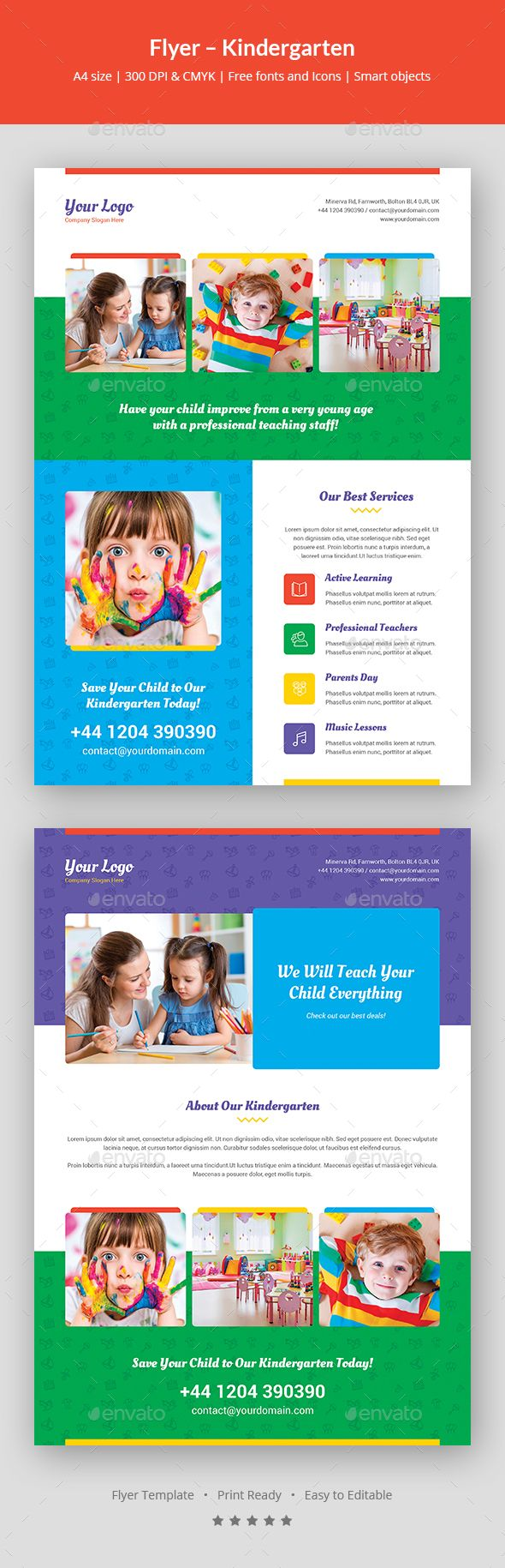 Flyer  Kindergarten  Kindergarten Flyer Template And Template