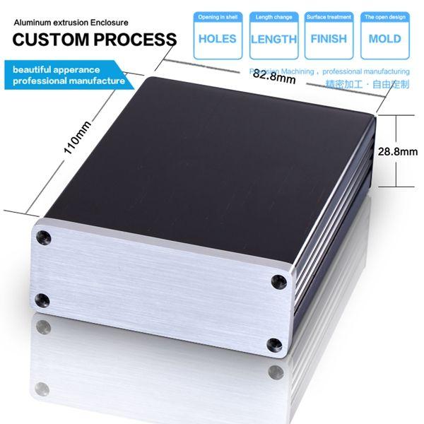 82 8 28 8 110 3 26 X1 13 X4 6 Mm Wxhxl Aluminum Extrusion Enclosure Box Aluminum Amplifier Aluminum Sheet Metal Aluminum Extrusion Sheet Metal Fabrication