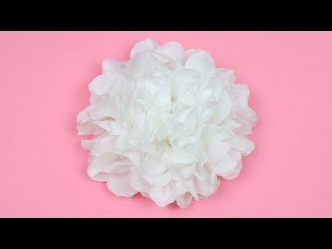 How To Make Easy And Beautiful Tissue Paper Flower Tutorial Easy