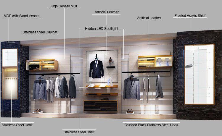 Gr159 Modern Retail Menswear Clothing Shop Interior Design Guangzhou Dinggui Display Furnitu Fashion Shop Interior Shop Interior Design Clothing Store Interior