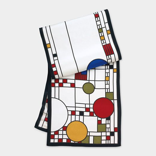 Coonley Scarf. Oblong | MoMA | Art inspired fashion. Frank lloyd wright coonley. Frank lloyd wright coonley playhouse