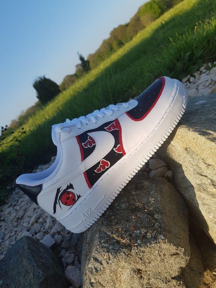 AF1 X AKATSUKI | Marvel shoes, Naruto shoes, Nike shoes air