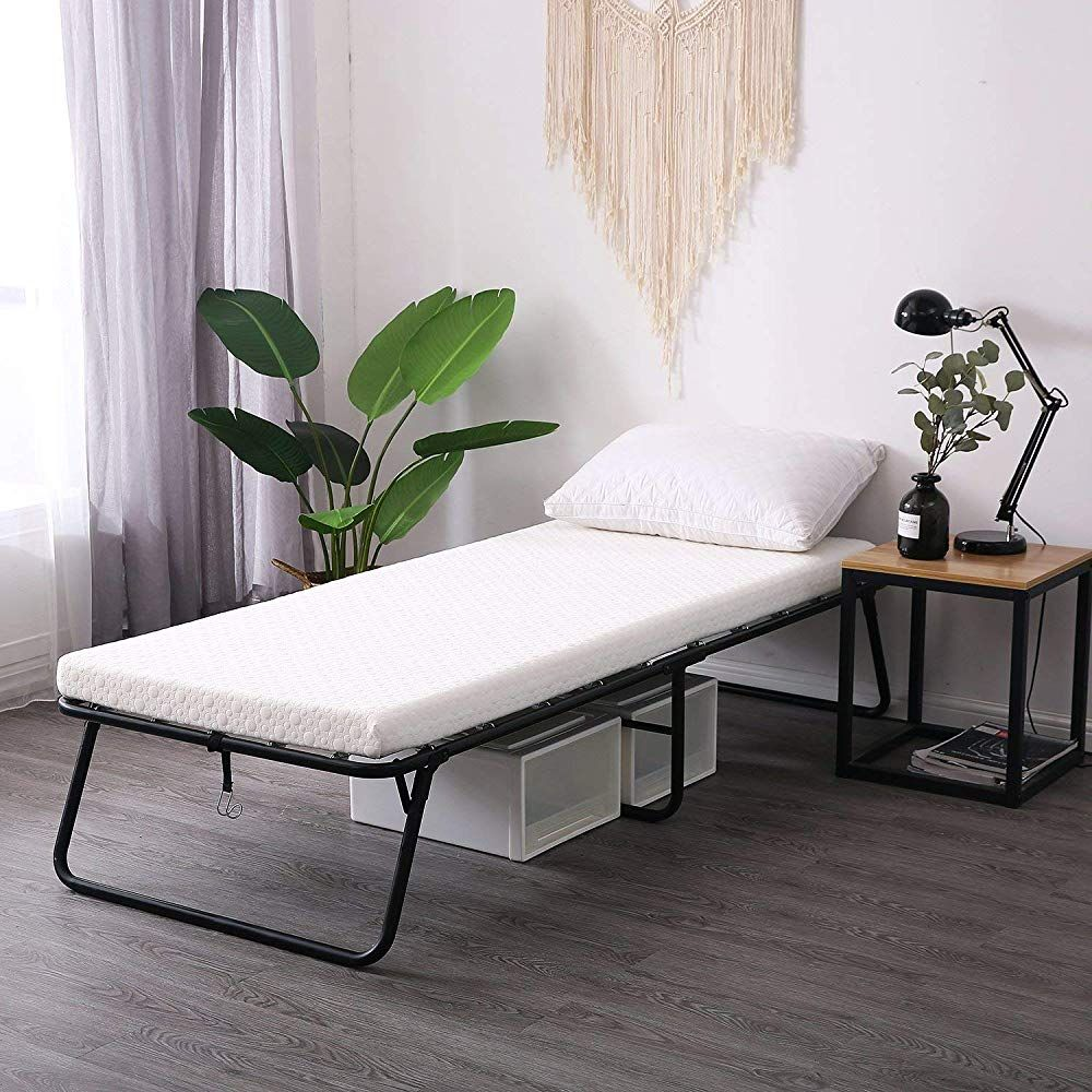 - Leisuit Rollaway Guest Bed Cot Fold Out Bed - Portable Folding Bed