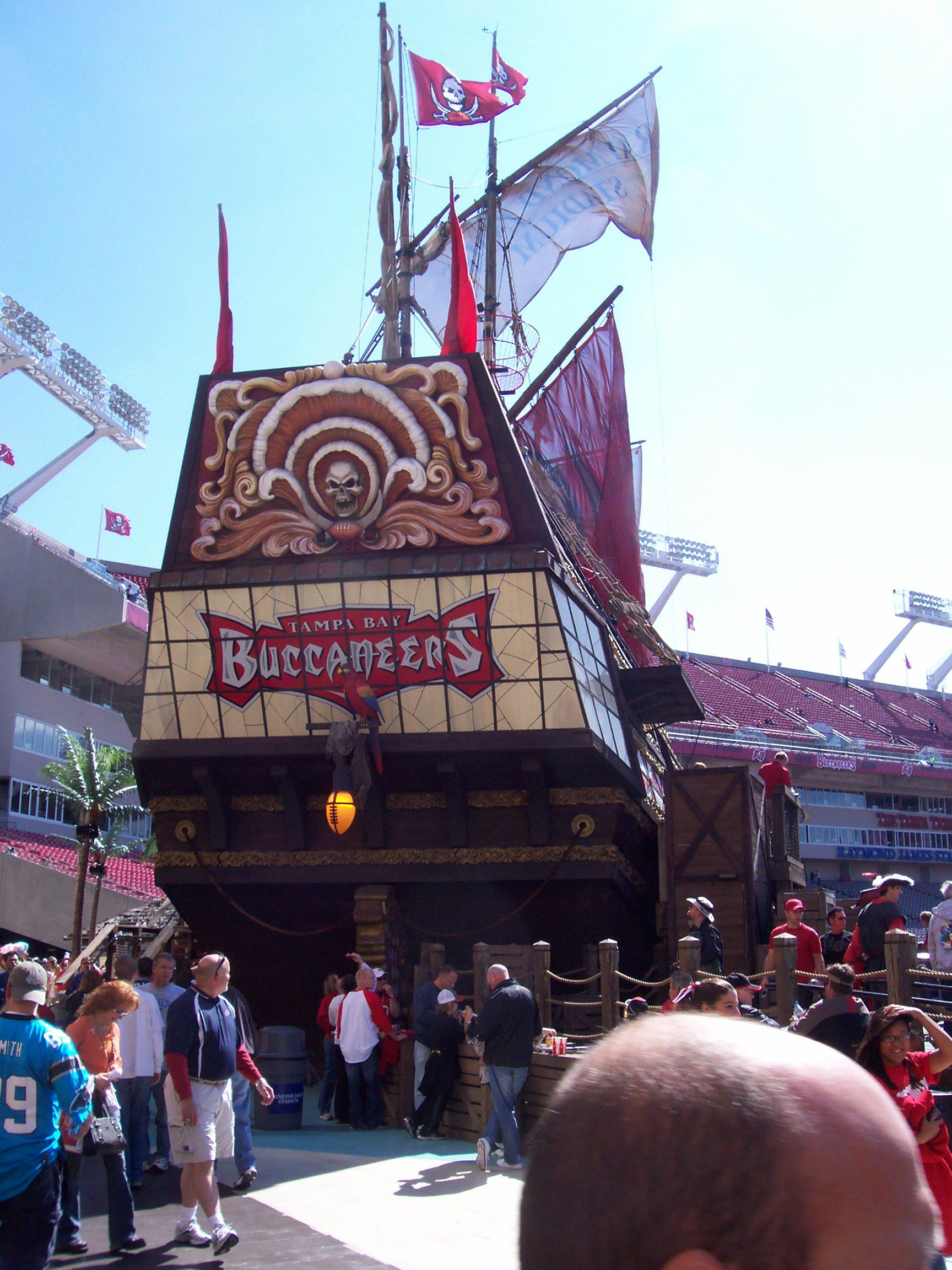 tampa bay buccaneers stadium pirate ship - Google Search 6469027a546