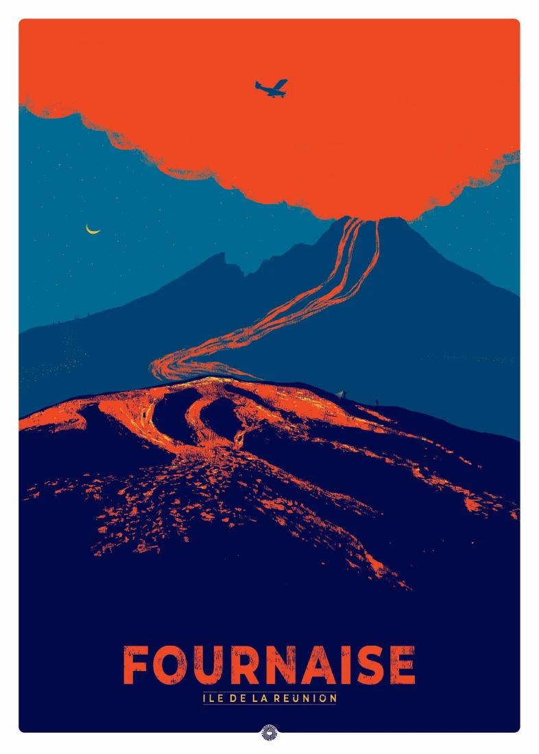 Fournaise Ile De La Reunion In 2020 Reunion Island Travel Posters Old Commercials