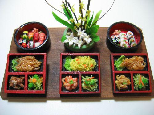 Miniature Food - Japanese Bento