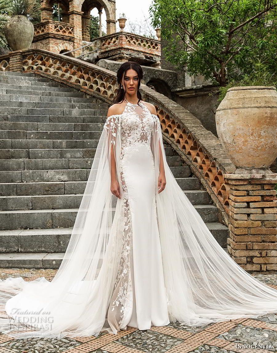 Innocentia 2019 Wedding Dresses Taormina Bridal Collection Wedding Inspirasi Cape Wedding Dress Wedding Dresses Lace Trendy Wedding Dresses