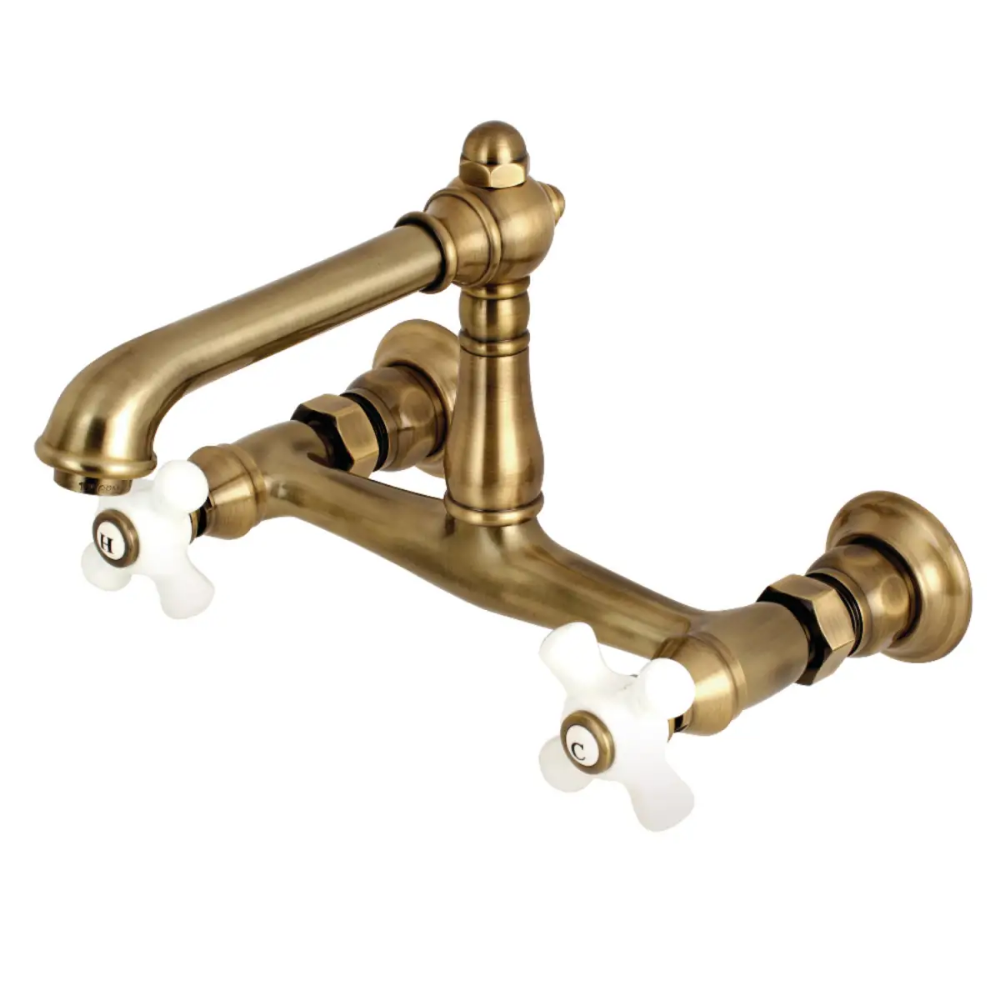 Kingston Brass Ks724 Px Build Com Wall Mount Faucet Bathroom Brass Bathroom Faucets Wall Mount Kitchen Faucet