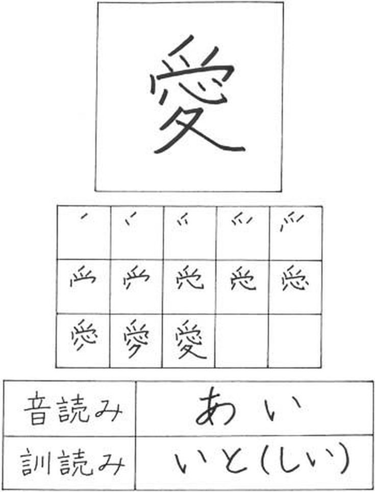 Do You Know How To Write Love In Japanese Kanji Pinterest