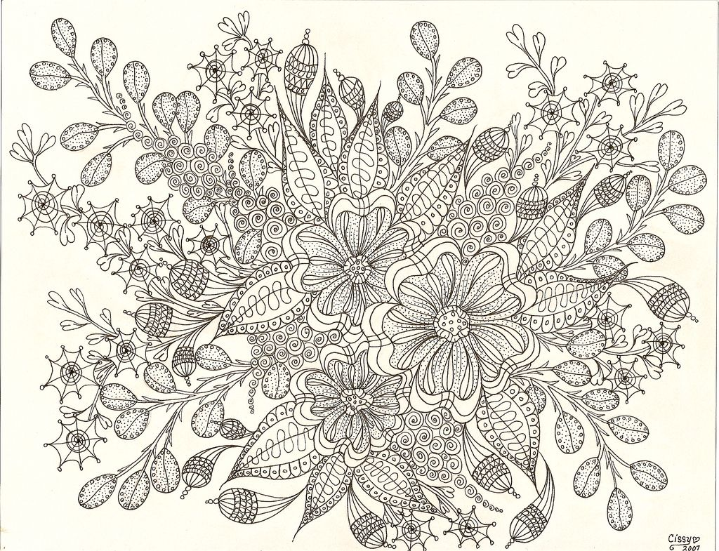 Zentangle coloring pages printable - Colouring Sheets