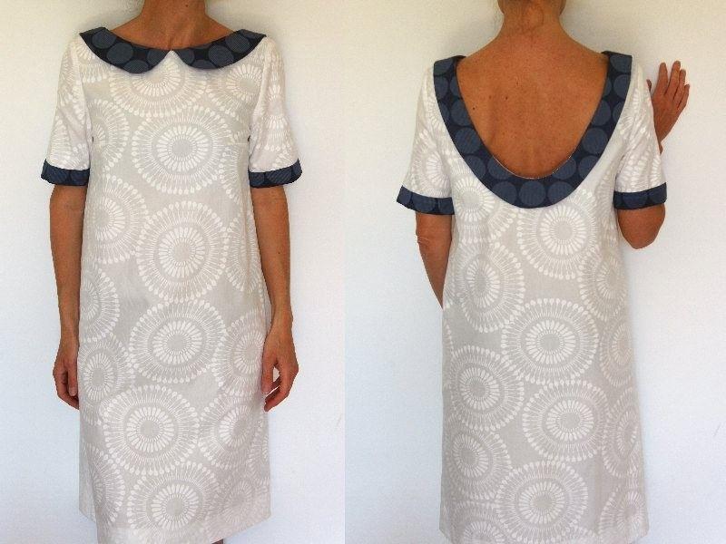 Patron de couture robe col claudine et dos mode for Apprendre a couture gratuit