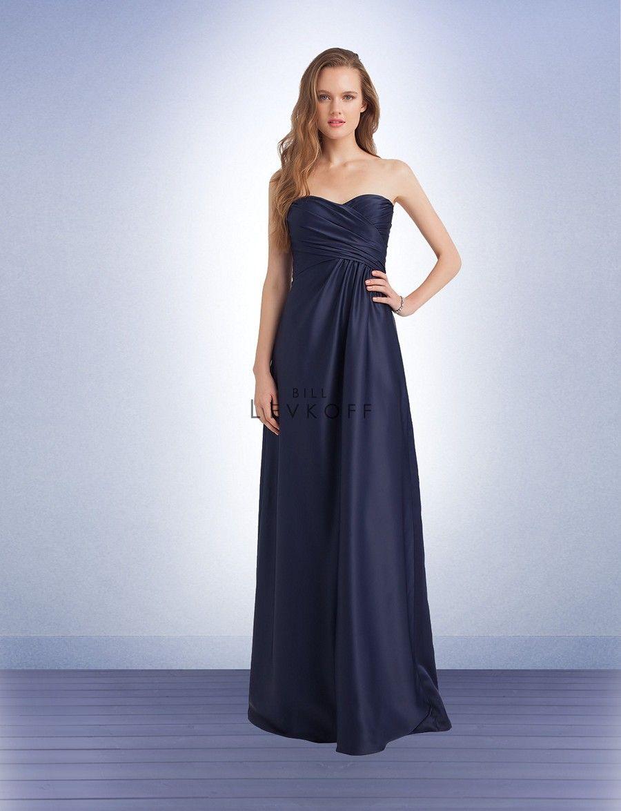 190b8363274 Bill Levkoff 1141 Dress Satin Sweetheart Bust Empire Waist