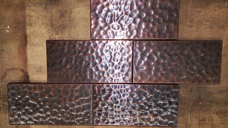 copper tile backsplash copper tiles