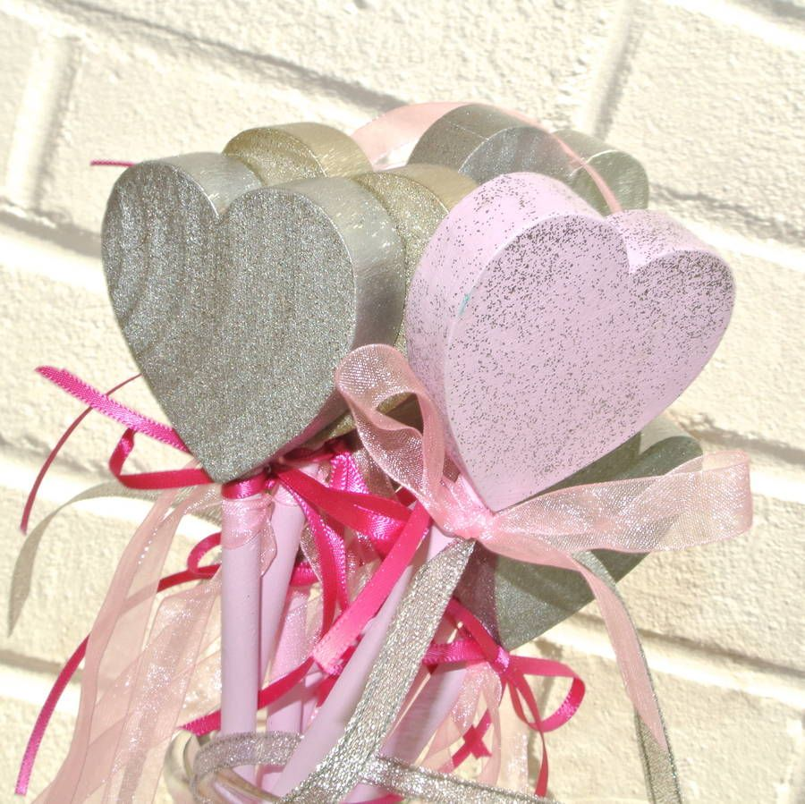 Hand Painted Wooden Heart Wands   Wand, Wedding planners and Weddings