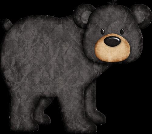 jss happycamper black bear 4 png pinteres rh pinterest com black and white polar bear clipart black bear cub clipart