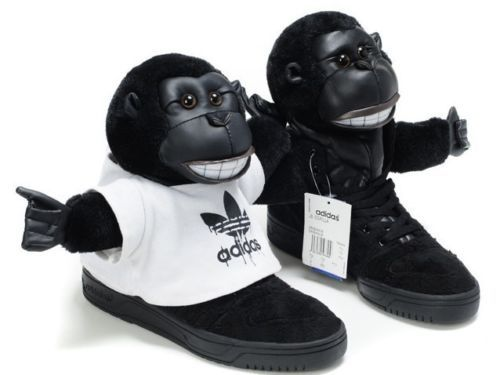 ADIDAS JEREMY SCOTT FURRY GORILLA TEDDY BEAR SHOES