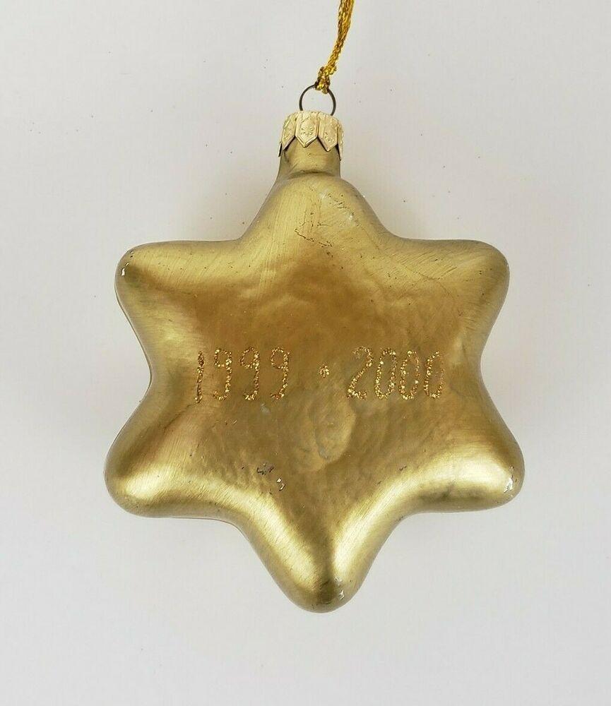 Golden Star Glass Christmas Tree Ornament Poland Glass Christmas Tree Ornaments Glass Christmas Tree Christmas Tree Ornaments