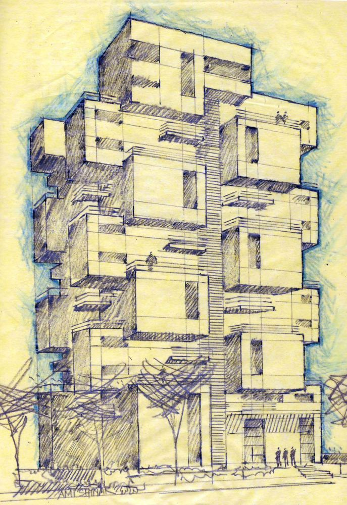 architecture buildings drawings. Z Design Building By Ami Shinar, Amir Mann - I Like Architecture Buildings Drawings