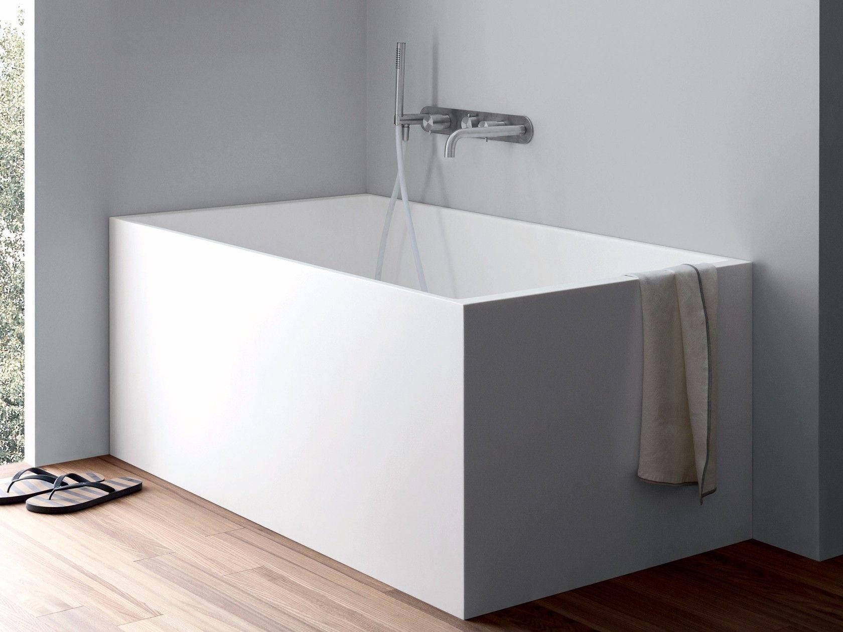 Vasca Da Bagno Rettangolare In Corian Unico Mini By Rexa Design