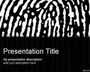Free zebra fingerprint powerpoint template for security free zebra fingerprint powerpoint template for security presentations toneelgroepblik Image collections