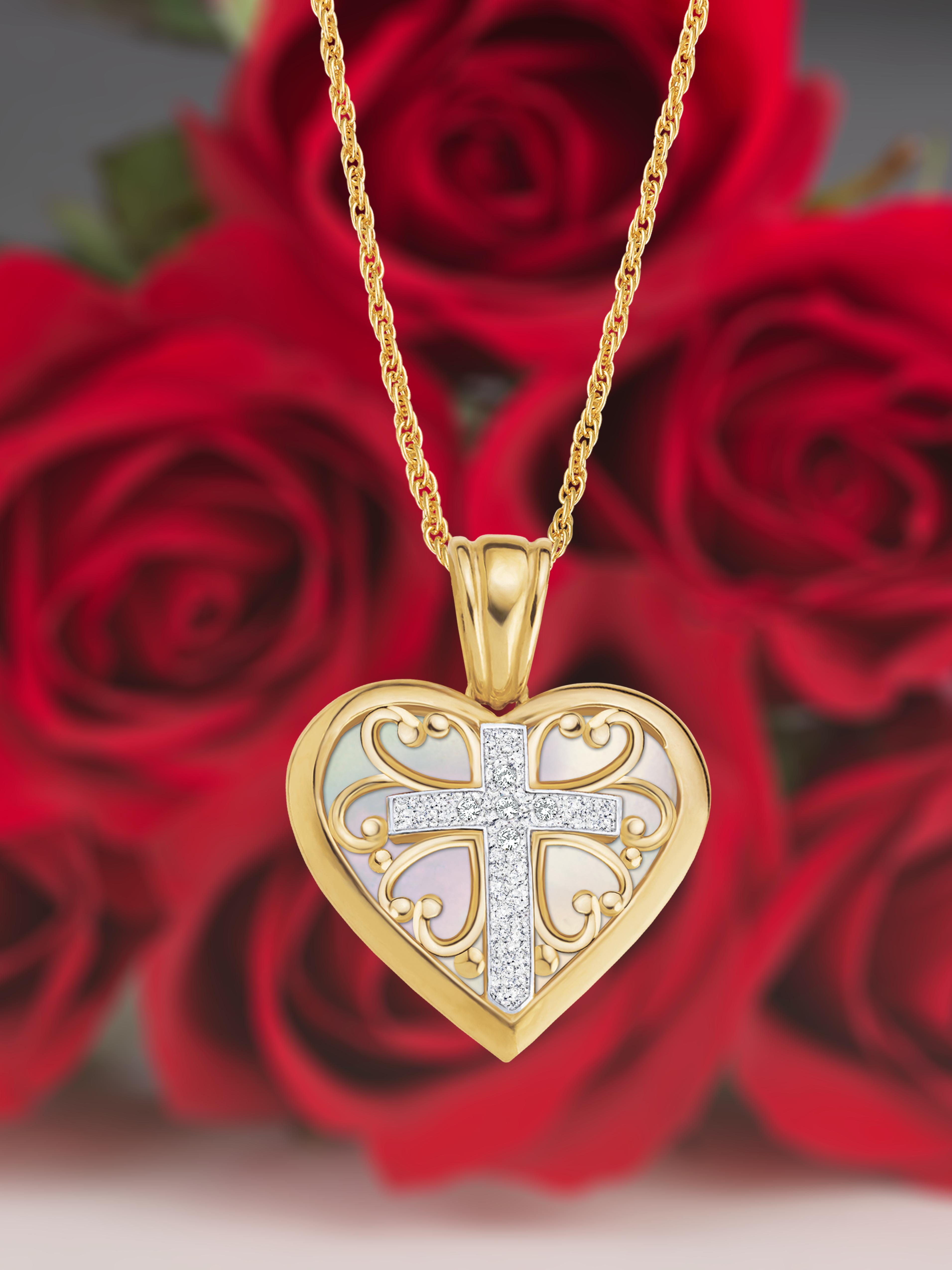 DiamondJewelryNY 14kt Gold Filled Mother of God Pendant