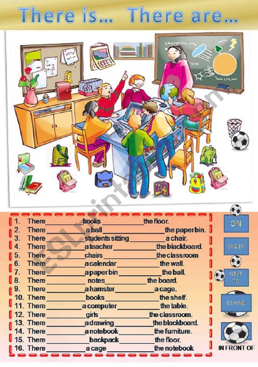 There is / are and prepositions Vocabulario en ingles