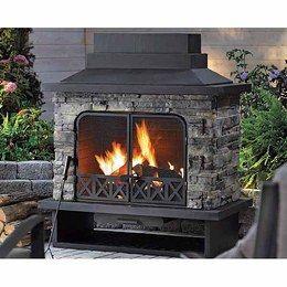 Quillen Steel Wood Burning Outdoor Fireplace
