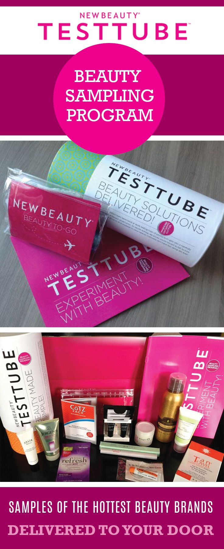 Receive Samples of the hottest new beauty products with