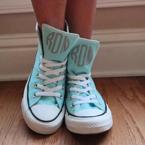6b427804e7c4 Monogrammed High Top Converse Shoes