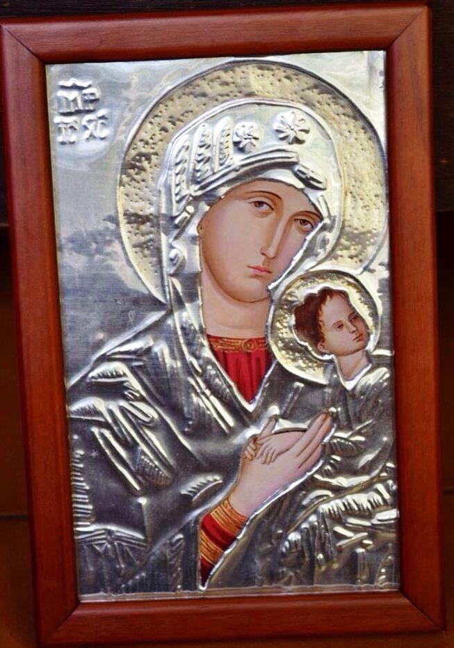 Cuadro Virgen del Perpetuo Socorro. Lo tenemos repujado en aluminio ...