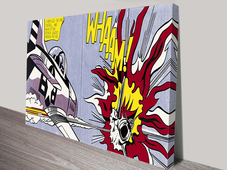 Roy Lichtenstein Prints on Canvas Whaam! Art Australia