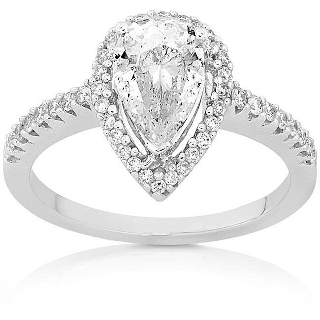 Pear Diamond Ring - take notes boys